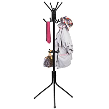 Coat Hat Rack Hanger Stand Tree Metal Hook Holder Umbrella Hooks Hall  Clothes Purse Jacket Office