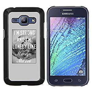 Stuss Case / Funda Carcasa protectora - Chica Amor Gris Actriz Hollywood Negro Blanco - Samsung Galaxy J1 J100
