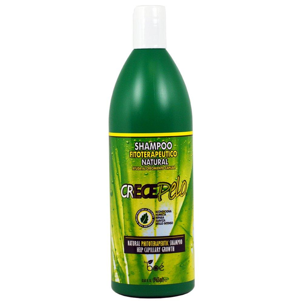 BOE Crece Pelo Natural Phitoterapeutic Shampoo for Capillary Growth 32.63oz/965mL by BOE