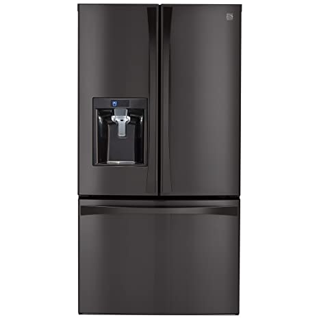 Genial Kenmore Elite 74027 29.8 Cu. Ft. French Door Bottom Freezer Refrigerator In  Black