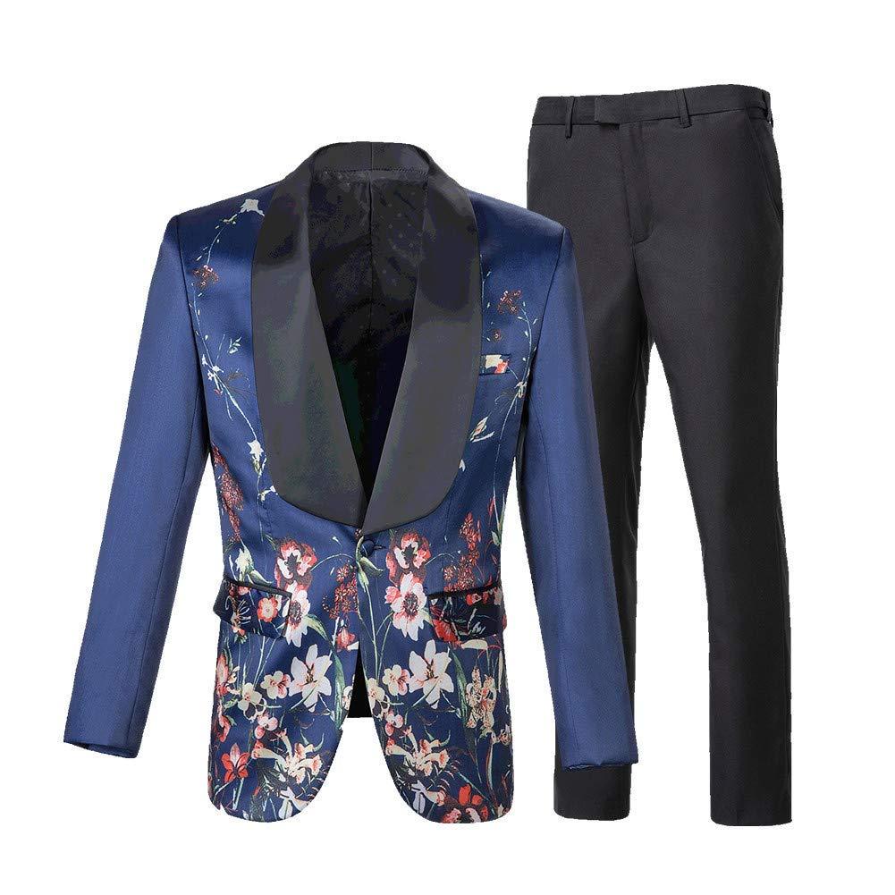 suit women Mens 2 Piece Wedding Suit Shawl Lapel Printed One Button Modern Blazer Coat Pants Sets