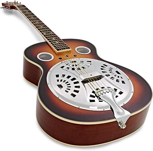 Guitarra Resonadora con Mastil Redondeado Cuerpo de Madera ...
