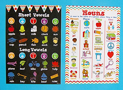 Amazon.com: Teacher Building Blocks Double Sided Grammar Posters ...