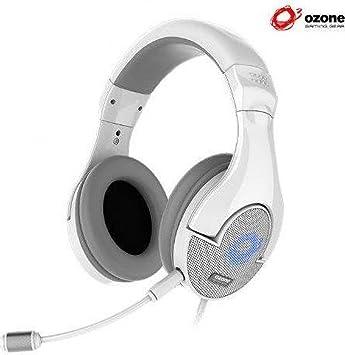 Ozone ONDA PRO - Auriculares diadema con micrófono (3.5 mm), blanco