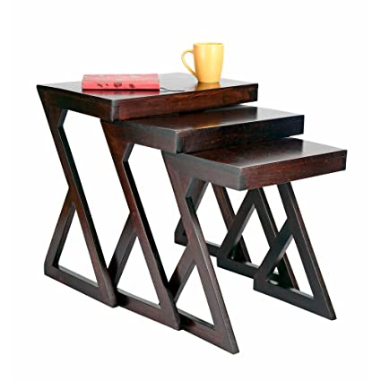 Big Bazaar Nested Table Zl Set Of 3 Brown 1000005401 Amazon In