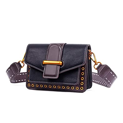 Crossbody Bags, Fashion Rivet shoulder Bags, Single Shoulder bags Leather  Side Purse, Messenger fe531ba7cd