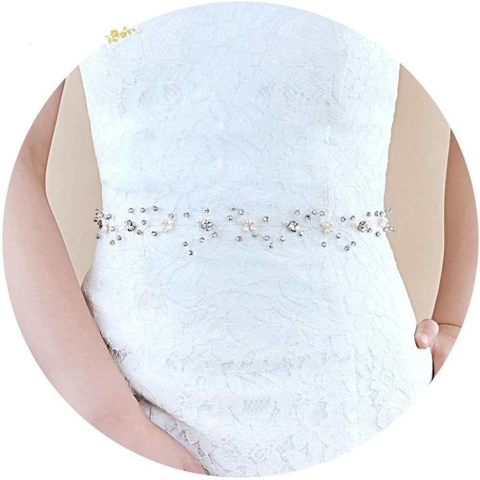 ZYDP Ceinture de mariée Robe de mariée Ceinture (Couleur : White- Organza) Ivory