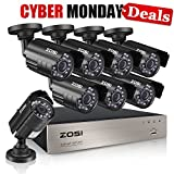 ZOSI 8-Channel HD-TVI 720P 1080N Video Security DVR Surveillance Camera Kit 8x 1280TVL Indoor Outdoor IR Weatherproof Cameras 65feet 20m Night Vision with IR Cut NO Hard Drive