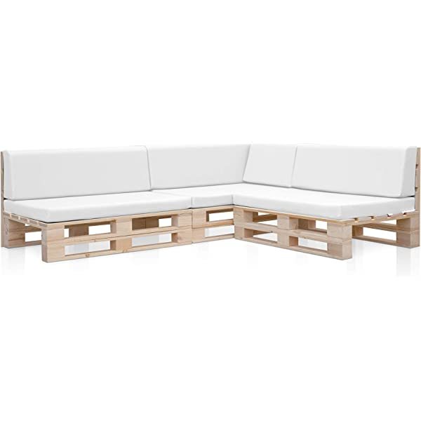 5 Sofas PALETS Madera para Jardin sin Barniz, Sillón Palet + ...