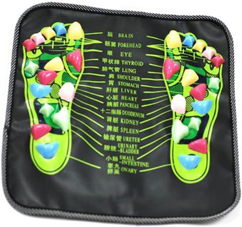 Foot Massage Mat ROSENICE Walk Stone Relaxing Pressure Muscle Pain Relieve (Black)