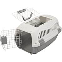 Favorite 19.5-Inch Portable Two Door Top Load Pet Plastic Carrier Crate for Small Animals