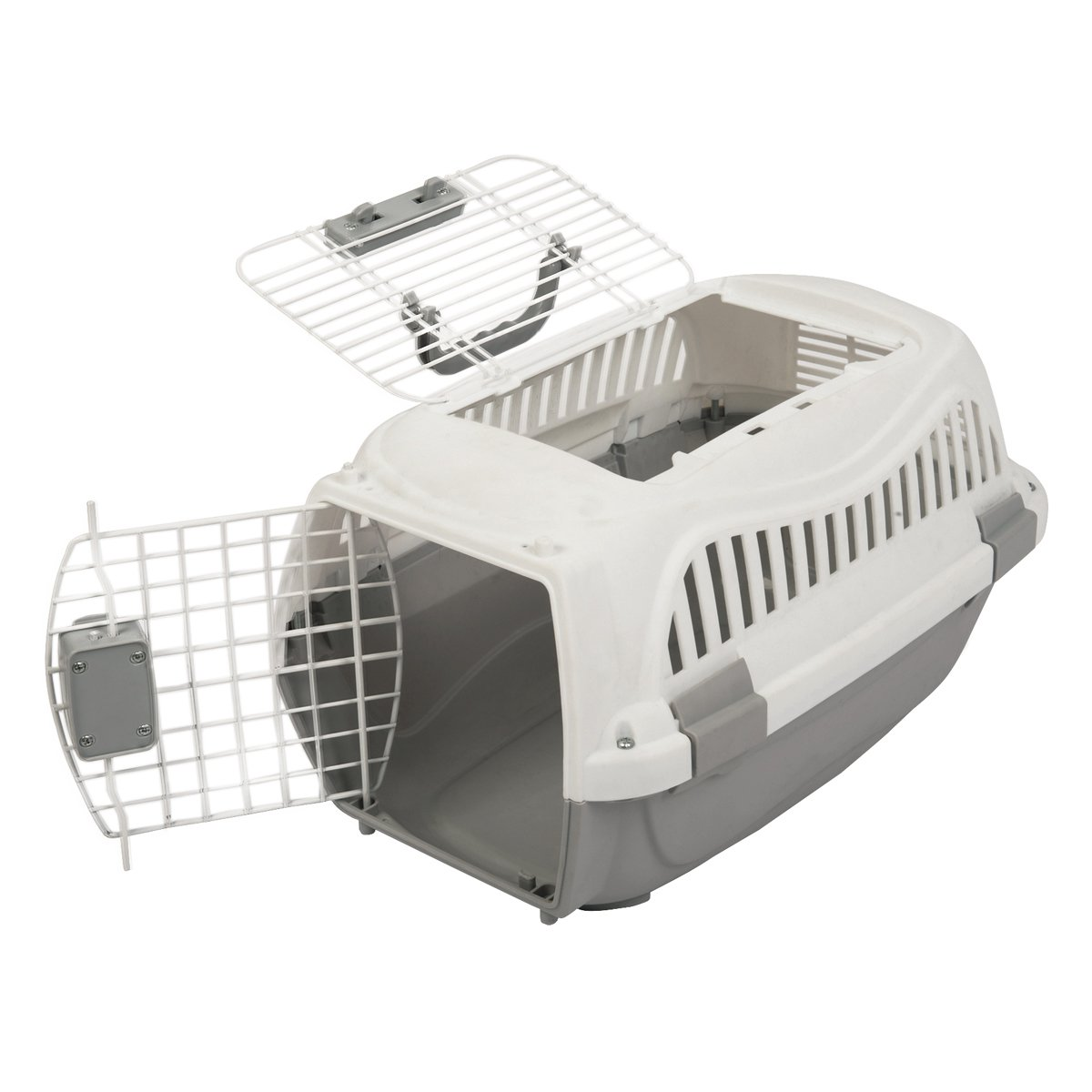 Favorite 22-Inch Portable Two Door Top Load Pet Plastic Carrier Crate for Small Animals by Favorite