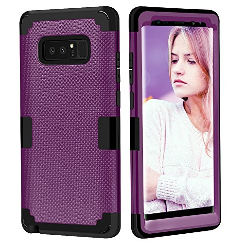 AOKER Galaxy Note 8 Case, [Fashion Design] [Perfect Fit] [Non-Slip Feature] Shockproof Anti-Scratch High Impact Resistant Hybrid Protective Cover Case for Samsung Galaxy Note 8 (2017) (Purple Black)