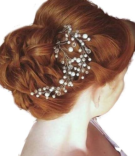 gracewedding pelo Vine de cristal de novia peine Pin boda diadema accesorio de pins accesorios (Pack de 2): Amazon.es: Joyería