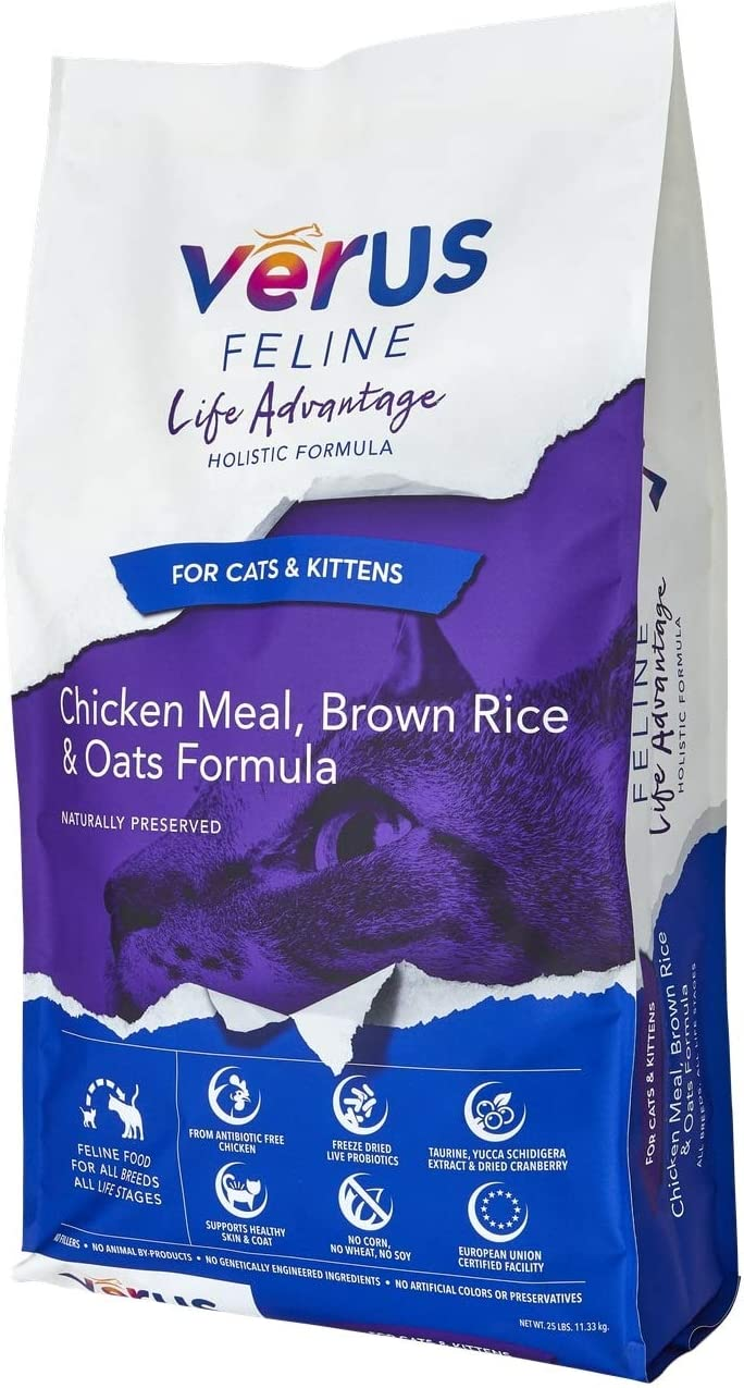VeRUS Feline Life Advantage Diet Chicken Meal and Brown Rice Formula Dry Cat Food