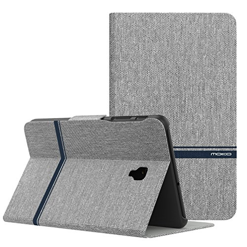 MoKo Samsung Galaxy Tab A 8.0 2017 Case - Lightweight Stand Scratch Proof Folio Cover Case Protector Holder for Galaxy Tab A 8.0 (SM-T380/T385) 2017 Release(NOT FIT 2015 Tab A 8.0), Light Gray by MoKo