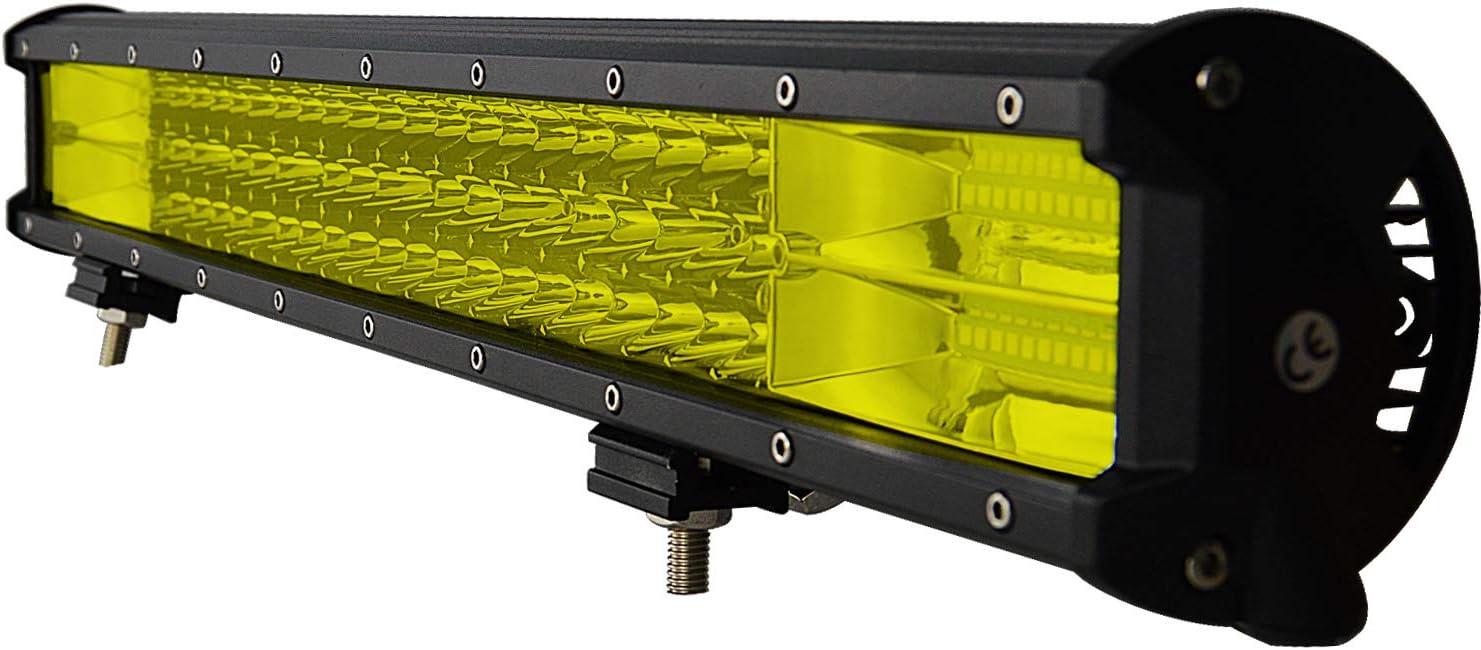Willpower 22 inch 324W LED Light Bar Amber LED Work Light Spot Flood Beam for Trucks Tractor 4X4 Jeep Boat Off Road Auto Fog Driving Lamp 12V 24V Waterproof IP67