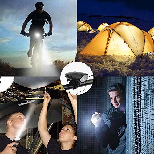 Q-Yuan USB Rechargeable Bike Light Set POWERFUL Lumens Bicycle Headlight FREE TAIL LIGHT, LED Front and Back Rear Lights Easy To Install for Kids Men Women Road Cycling Safety Flashlight by Q-Yuan (Image #7)