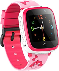 Kids Smart Watch Waterproof,Two-Way Call Touch Screen Voice Chat 7 Games Flashlight SOS Camera for Girls Boys Birthday Christmas
