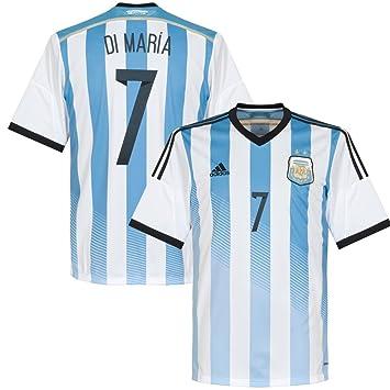Argentina Di Maria 2014 2015 Home camiseta de manga corta multicolor blanco y azul Talla:XXXL: Amazon.es: Deportes y aire libre