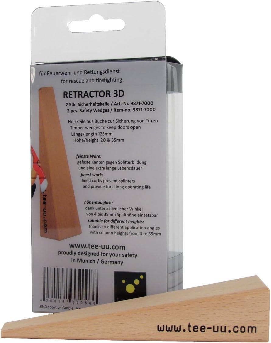 tee-uu 3D RETRACTOR Cu/ñas de seguridad