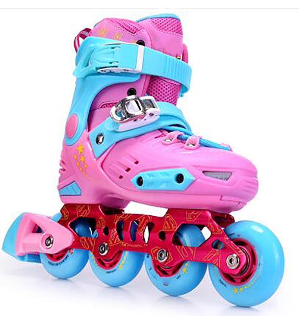 Inline Skates Adjustable Abec-7 PU Wheels , pink , middle by WY