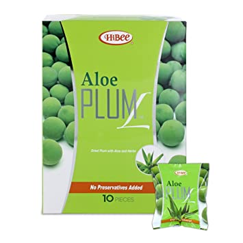 HiBee Aloe Plum L Constipation Relief - Dried Plums with Aloe & Herbs - All-