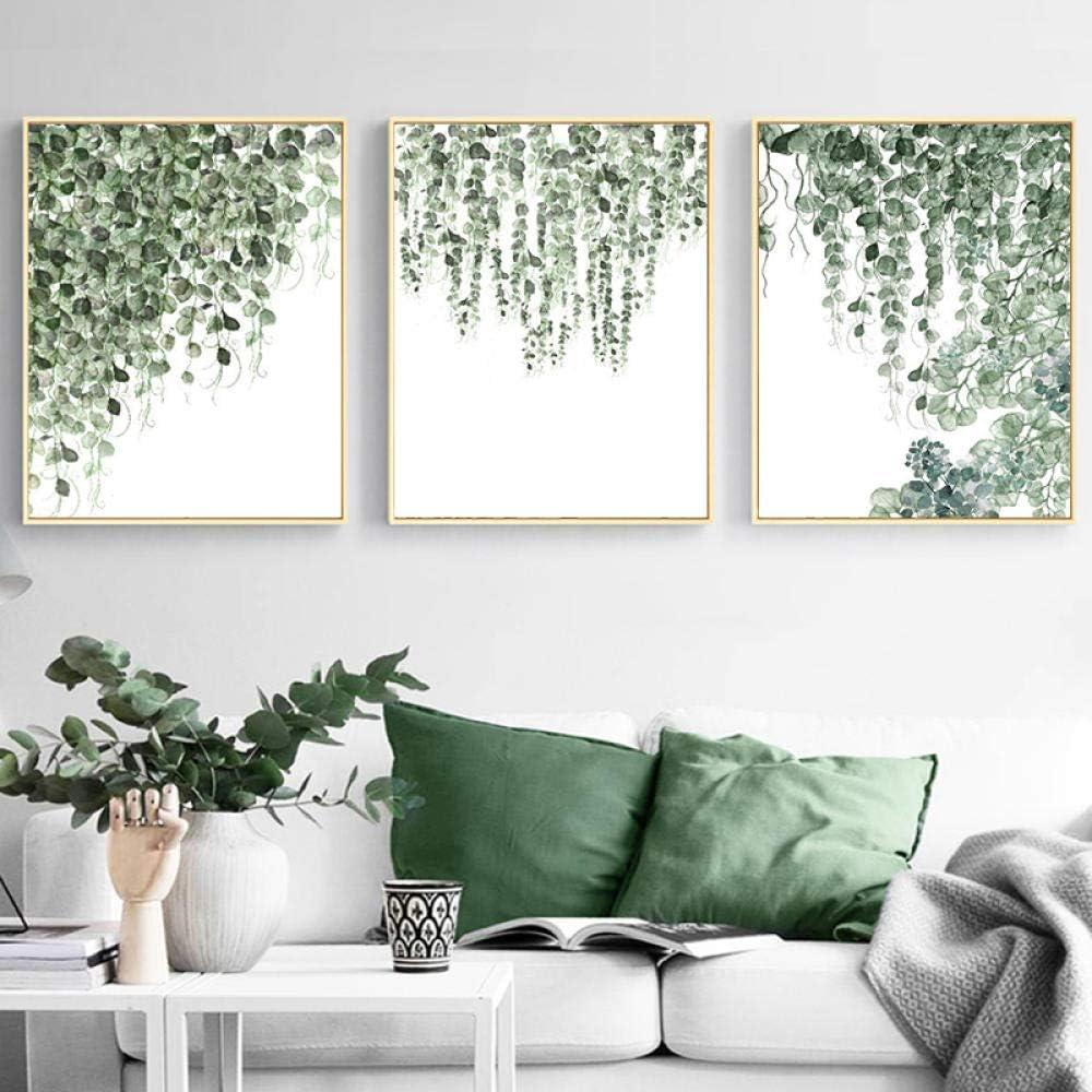 Amazon.com jongya Watercolor Hanging Plants Posters and Prints ...