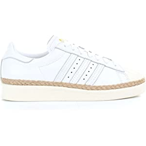 1984134a40 Adidas Superstar Originale Bold Bianco/Rosa BY9076. Piattaforma ...