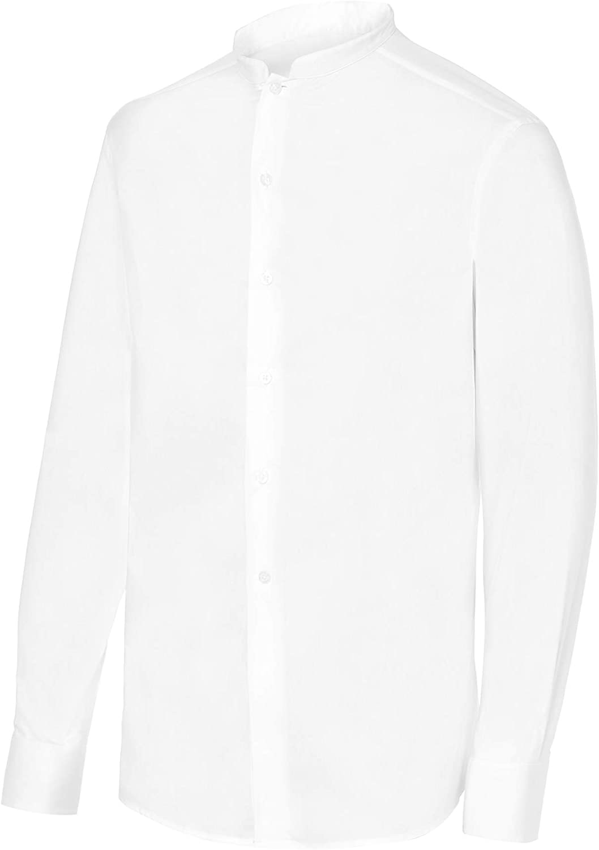 Camisa de Camarero Manga Larga Cuello Mao Hombre. Ropa Camarero/Hosteleria Ref: 2139: Amazon.es: Ropa y accesorios