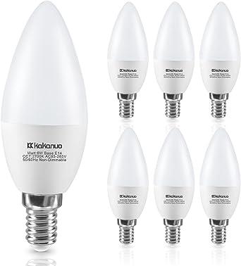 Lámparas LED vela 6w = 40w e14 mate blanco cálido 2700k ra /> 90
