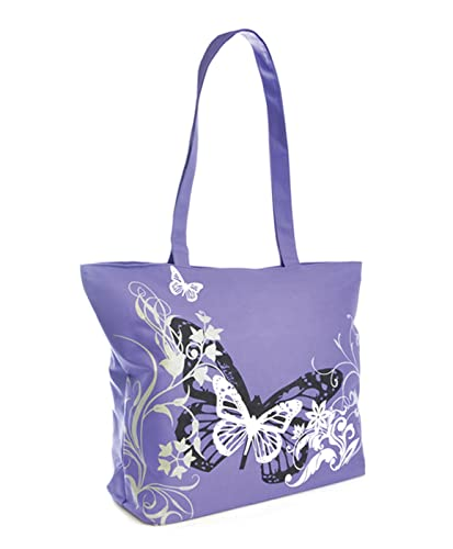 Butterfly Print Shoulder / Beach / Shopping Bag ~ Pink, Purple or ...