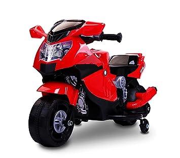 LT 862 Moto de Carreras eléctrica para niños 6V con Luces y Sonidos realistas (Rojo