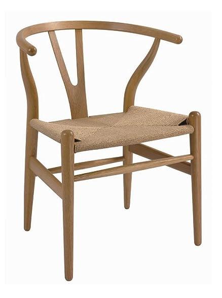 amazon com hans wegner wood wishbone chair dc 541 natural chairs
