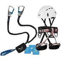 Klettersteigset Salewa Premium Attac + LACD Gurt Start + Helm Salewa Toxo