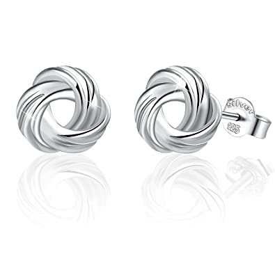 7b7109cd45c Image Unavailable. Image not available for. Color  J.Rosée Christmas  Jewelry Gifts Packing 925 Sterling Silver White Gold Plated Love Knot Small