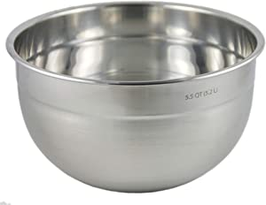 Tovolo 80-15550 Stainless Steel Deep Mixing, Easy Pour With Rounded Lip Kitchen Metal Bowls for Baking & Marinating, Dishwasher-Safe, 5.5 Quart