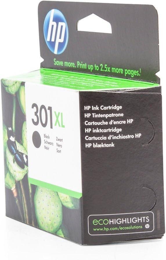 HP 301XL - Cartucho de tinta para impresoras (Negro, 480 páginas ...