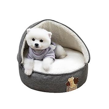WSGZH Precioso Suave Mascota Nido Antideslizante Gato Perro Cama Saco de Dormir pequeño Animal doméstico Almohadilla para Dormir Invierno cálido Acolchado ...