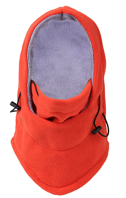 Lukis 6 in 1 Fleece Balaclava Skimaske Sturmhaube Windmaske Orange