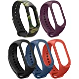 Katai Mi Band 3/4 Straps, Fashion Colorful Soft Silicone Wristbands, Perfect Comfortable Sports Activity Bracelet Wristband for Xiaomi Mi Band 3/ Miband 4(5pcs Color)