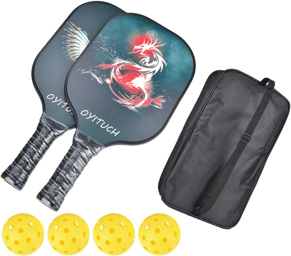 Alomejor Set Pickleball Set de Tenis de Mesa con Pelotas y Bolsa de Almacenamiento Ping Pong Paddle Racket