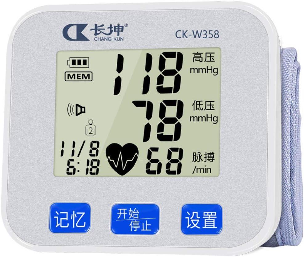 HJUNH Tensiómetro Digital de Muñeca Tabla de medición de Instrumentos electrónicos para el esfigmomanómetro de Alta precisión médico de Edad Avanzada