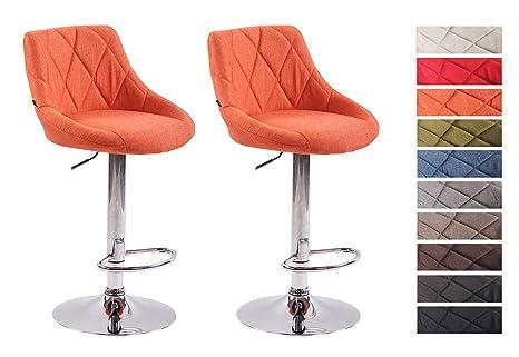 Clp 2x sgabelli design lazio in tessuto sedie cucina girevoli e