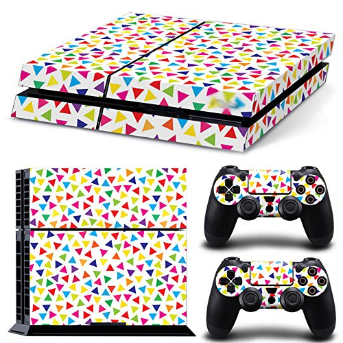 Gam3Gear Pattern Series Decals Skin Vinyl Sticker for PS4 Console & Controller (NOT PS4 Slim / PS4 Pro) - Mini Triangle Kaleidoscope
