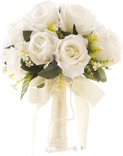 Bouquet Sposa Vendita On Line.Yansion Bouquet Da Sposa Bouquet Da Sposa Coreano Stile Bianco