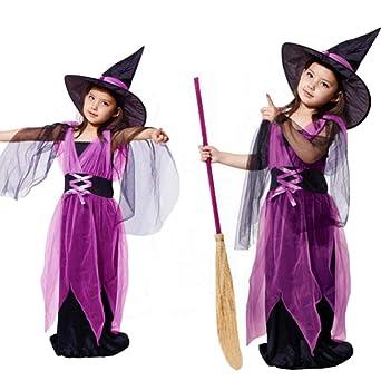 04bebec223b34 ハロウィン衣装 コスチューム 魔女 女の子 ワンピース 子供ドレス オレンジ ブラック パープル 90-160cm (ピンク