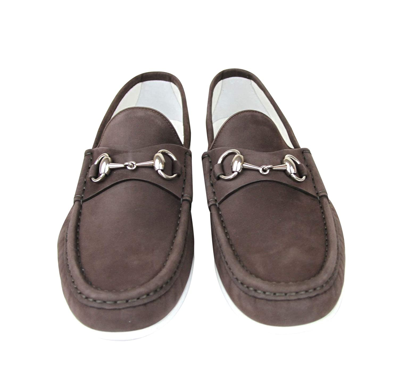 f25e0f2e629 Amazon.com  Gucci Moccasin Suede Horsebit Loafer 337060 BHO00  Shoes
