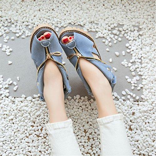 y Zapatos PU Segundo Open Mujer Hebilla Verano Hebilla para Zapatos Fiesta de Gruesa Primavera nuevos Sandalias Heel Noche nxXpXTZwf
