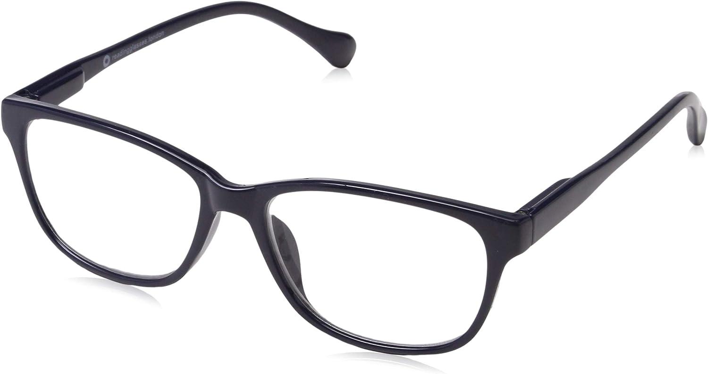 UV Reader Marineblau Leicht Kurzsichtigkeit Fernbrille Designer Stil Herren Frauen Mit Etui UVMR027-1,00